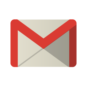 Logo for google mail Red edged unopened envalope